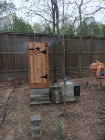 Building A Smoker Out Of Block - Year of Clean Water