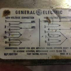 110 Volt Wiring Diagrams 2001 Chevy S10 Tail Light Diagram Need Help Ge Motor - 220v