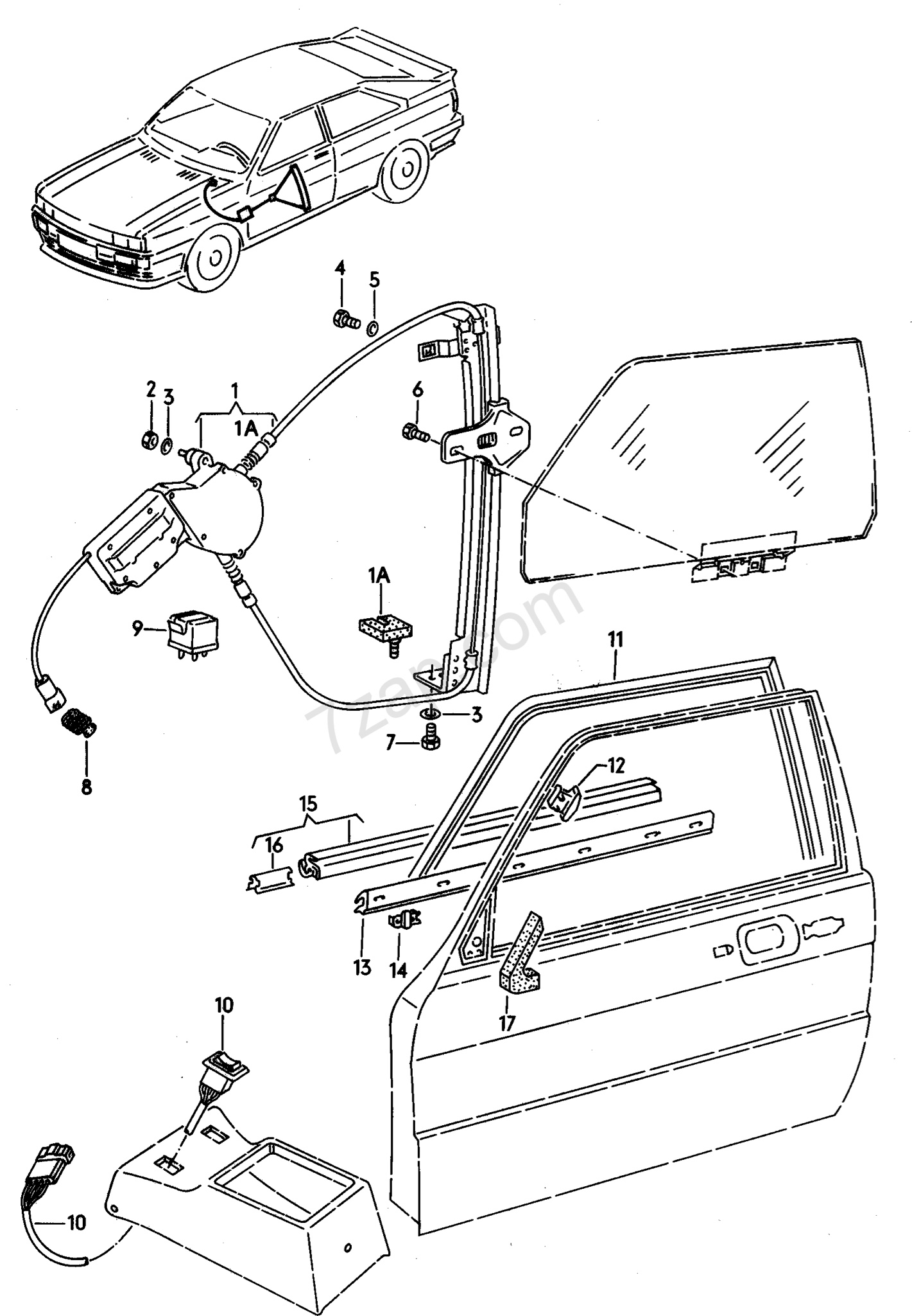 Electric to Manual Window Conversion on 1984 Coupe GT