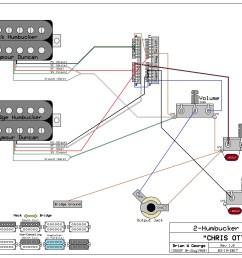 2 humbuckers 1 vol 1 tone 5 way super switch wiring diagram [ 2048 x 1547 Pixel ]