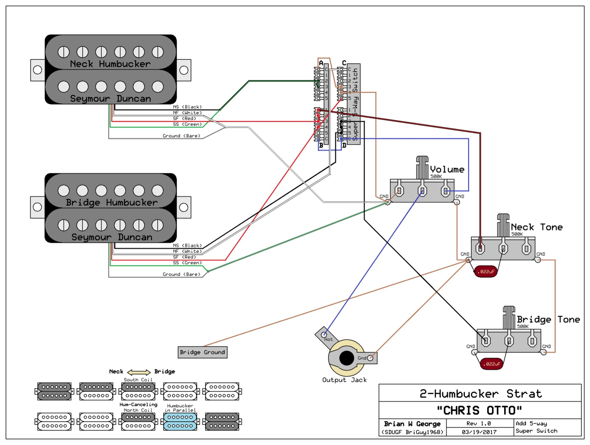 hight resolution of 2 humbuckers 1 vol 1 tone 5 way super switch wiring diagram