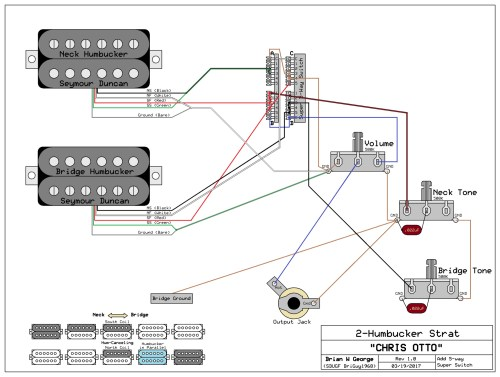 small resolution of 2 humbuckers 1 vol 1 tone 5 way super switch wiring diagram