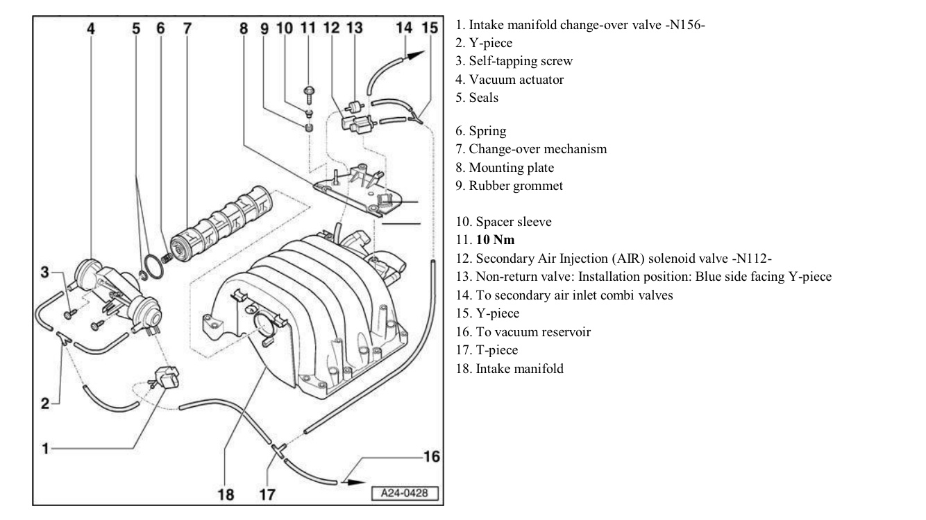[WRG-1056] Audi Vacuum Diagram