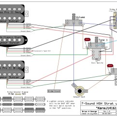 Stratocaster Hsh Wiring Diagram Of Skull Superior View Anatomy W 1 Volume 2 Tone Pots With Pullups
