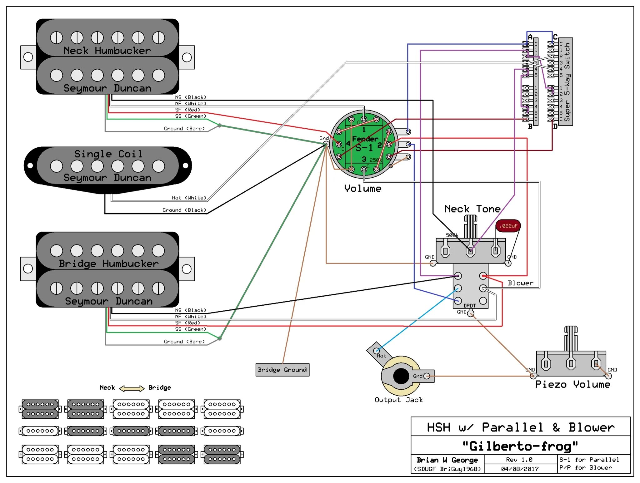 pickup wiring fender 5 way switch with lace