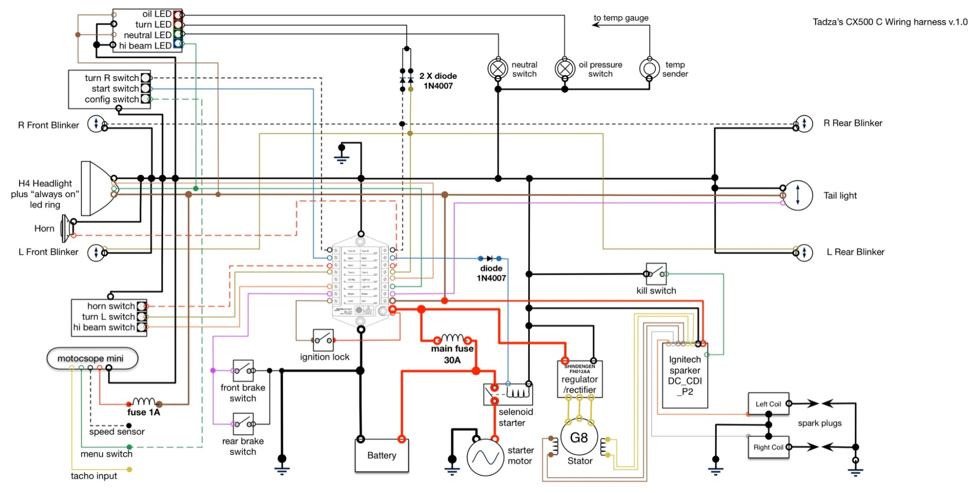 hight resolution of m unit wiring diagram for cdi 1980 cx500 can be used with original cdi as