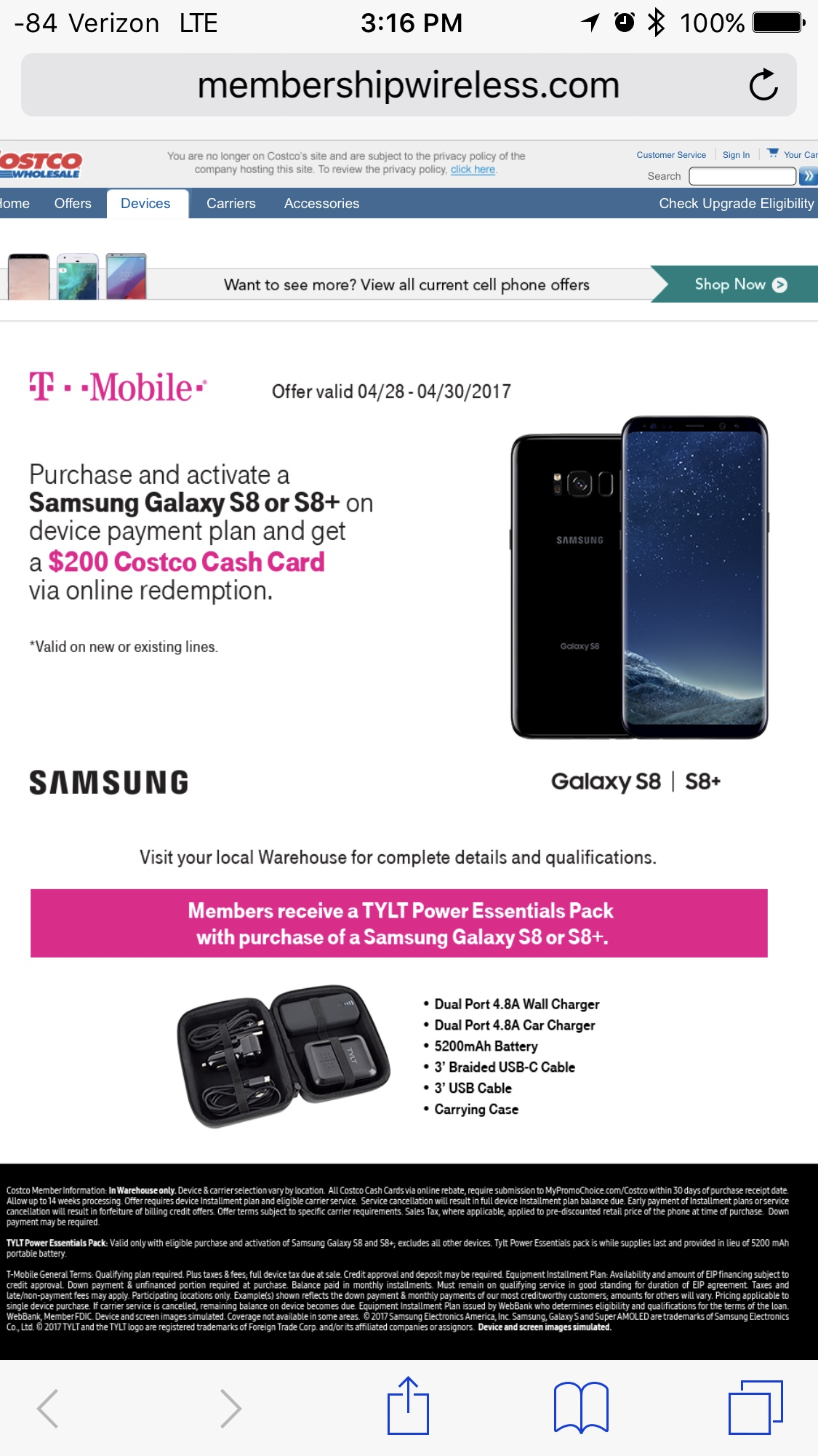 t mobile galaxy s8