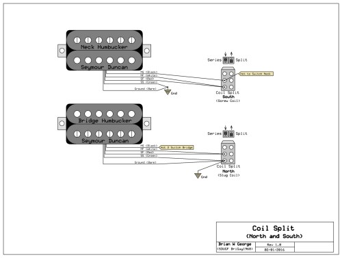 small resolution of notice that each of the splits uses only one side of the 2 way dpdt you can use either a mini toggle or a push pull pot your split wire will do the job