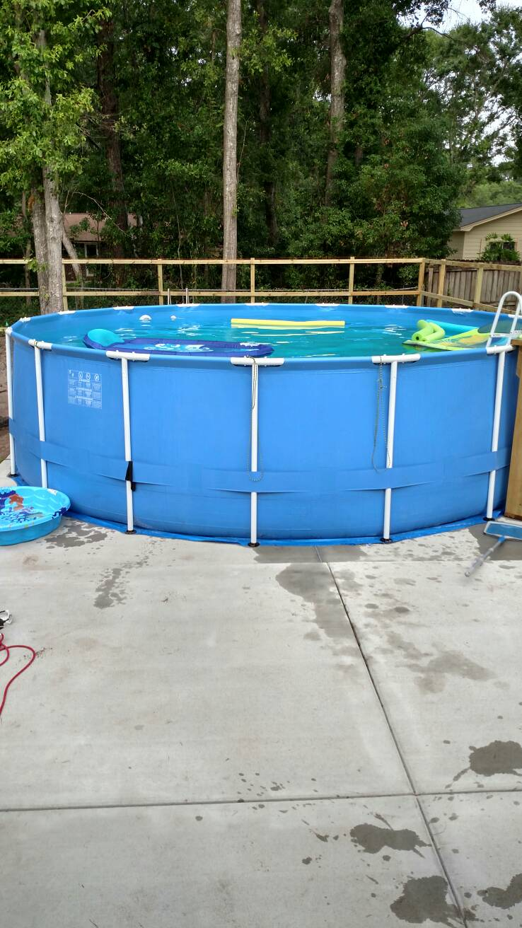 Best underlayment for concrete pad for frame pool