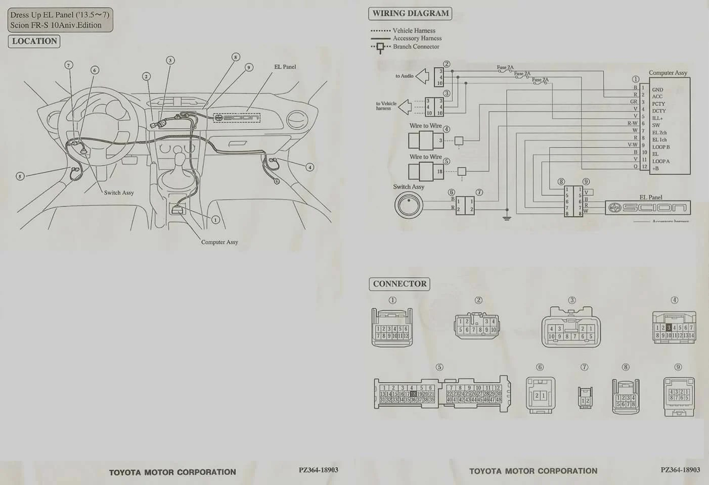 scion xb stereo wiring diagram 89 toyota pickup frs auto