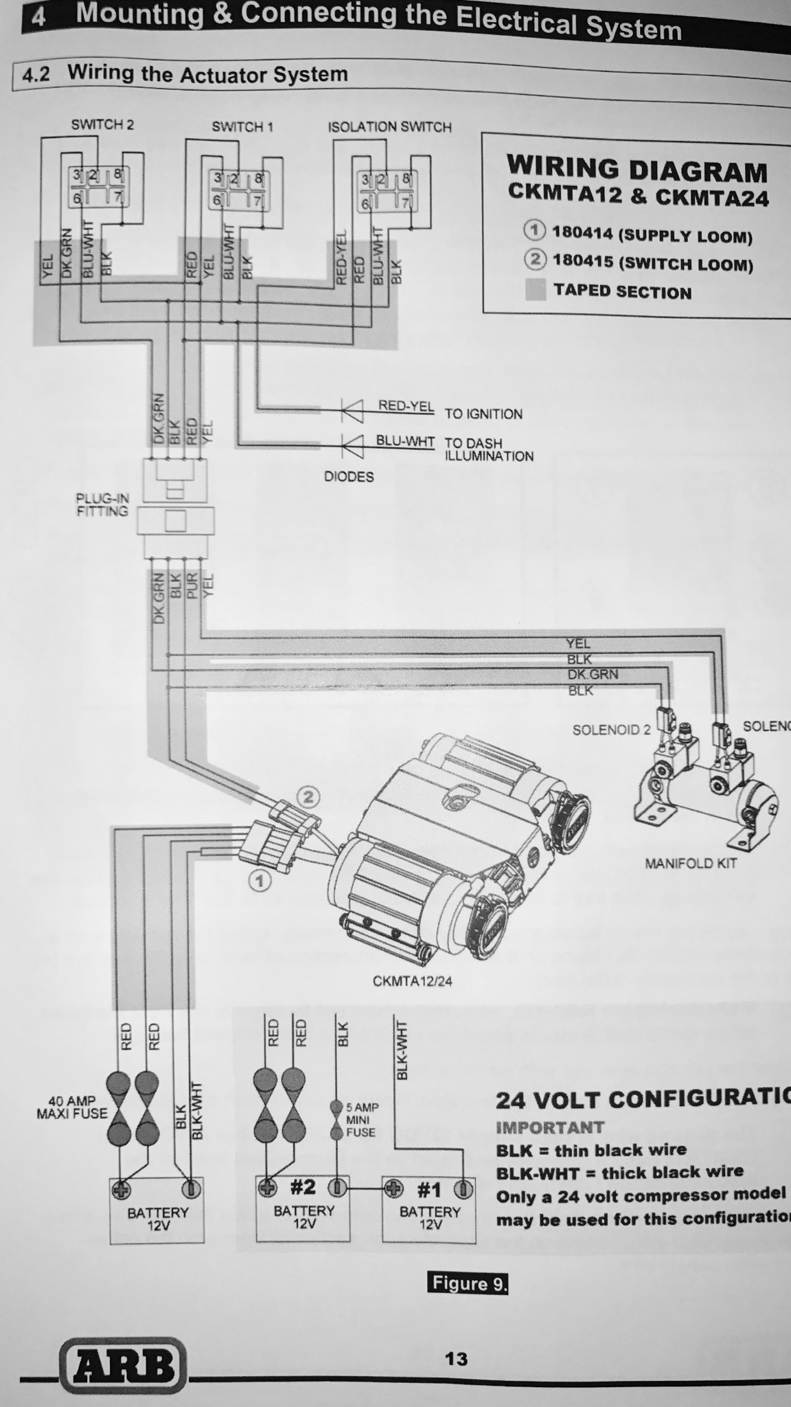 hight resolution of this image has been resized click this bar to view the full image installation help arb twin compressor jeep