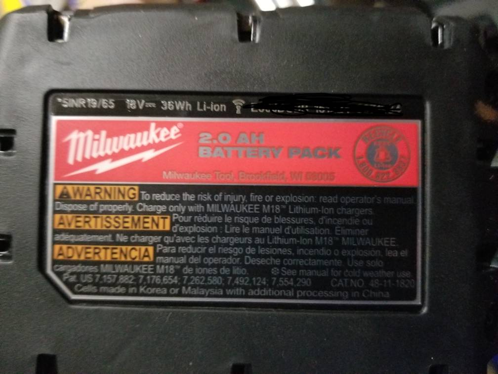 Milwaukee Tool Date Code