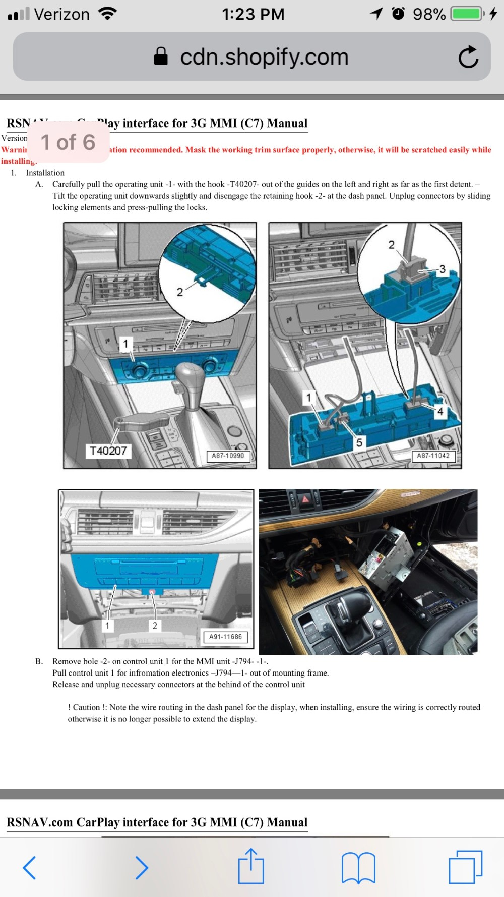 medium resolution of follow the instructions linked in the rsnav a7 product page to pull the climate control and