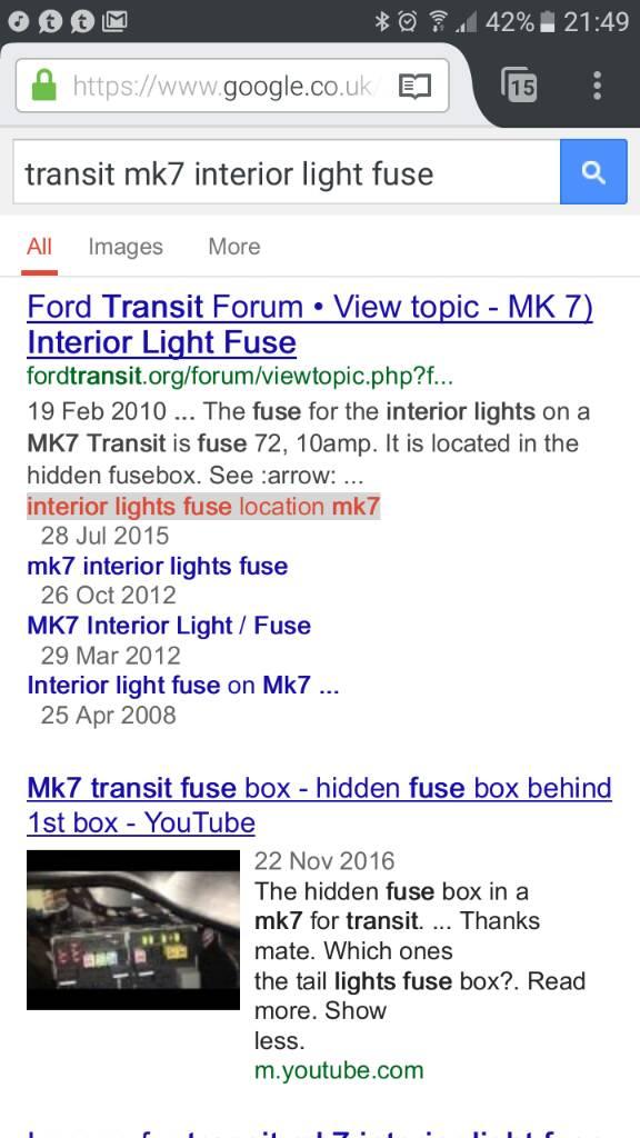 box ford transit forum 2022 view topic - interior light fuse - x reg ford  transit fuse