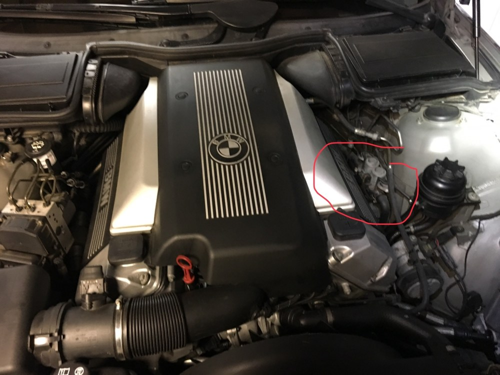 medium resolution of where is it specifically on the 540i right side of the engine bay on the strut housing here are some pictures with zoom