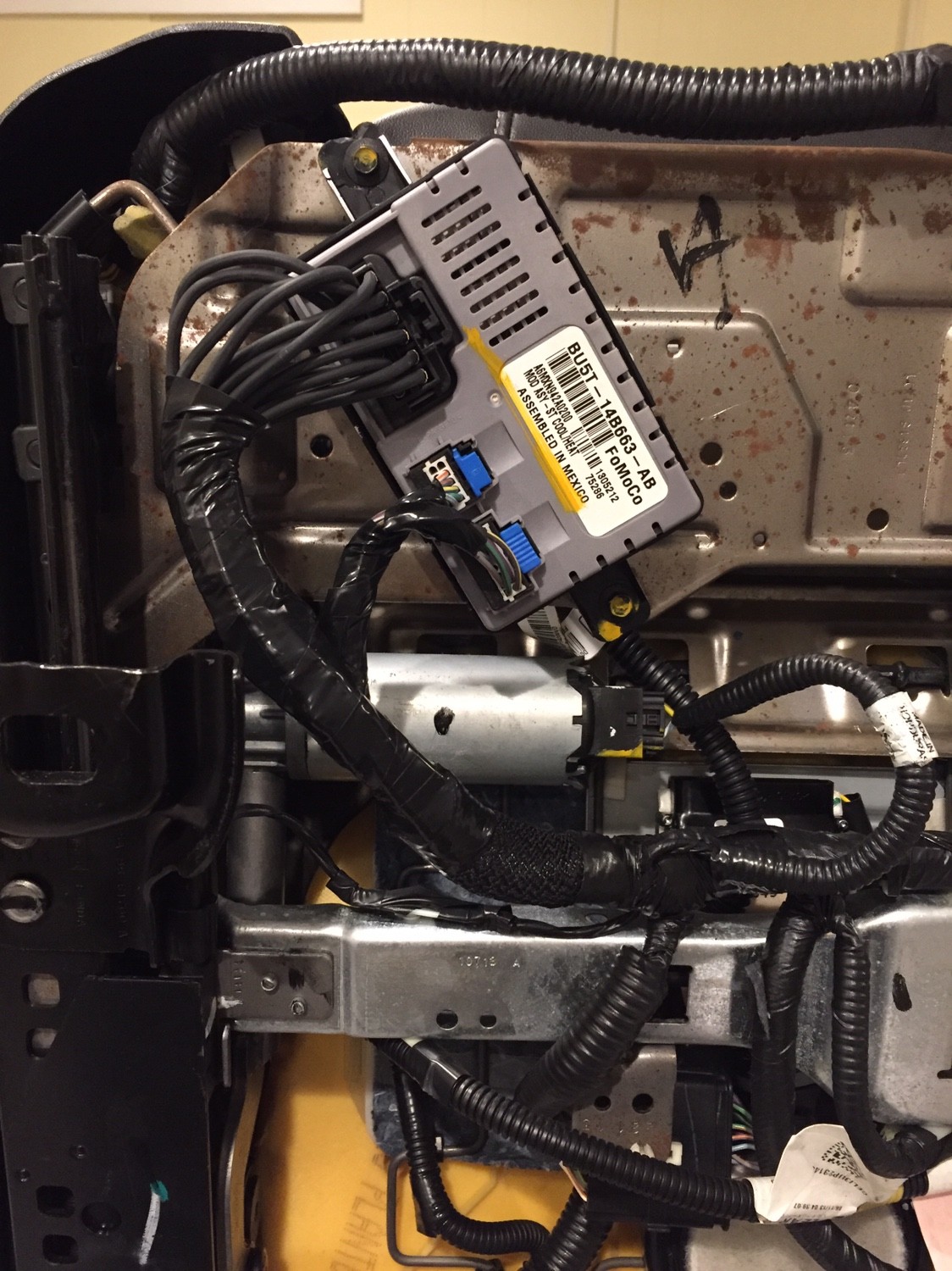 hight resolution of  heated cooled seat dscm harness repair taurus car club of