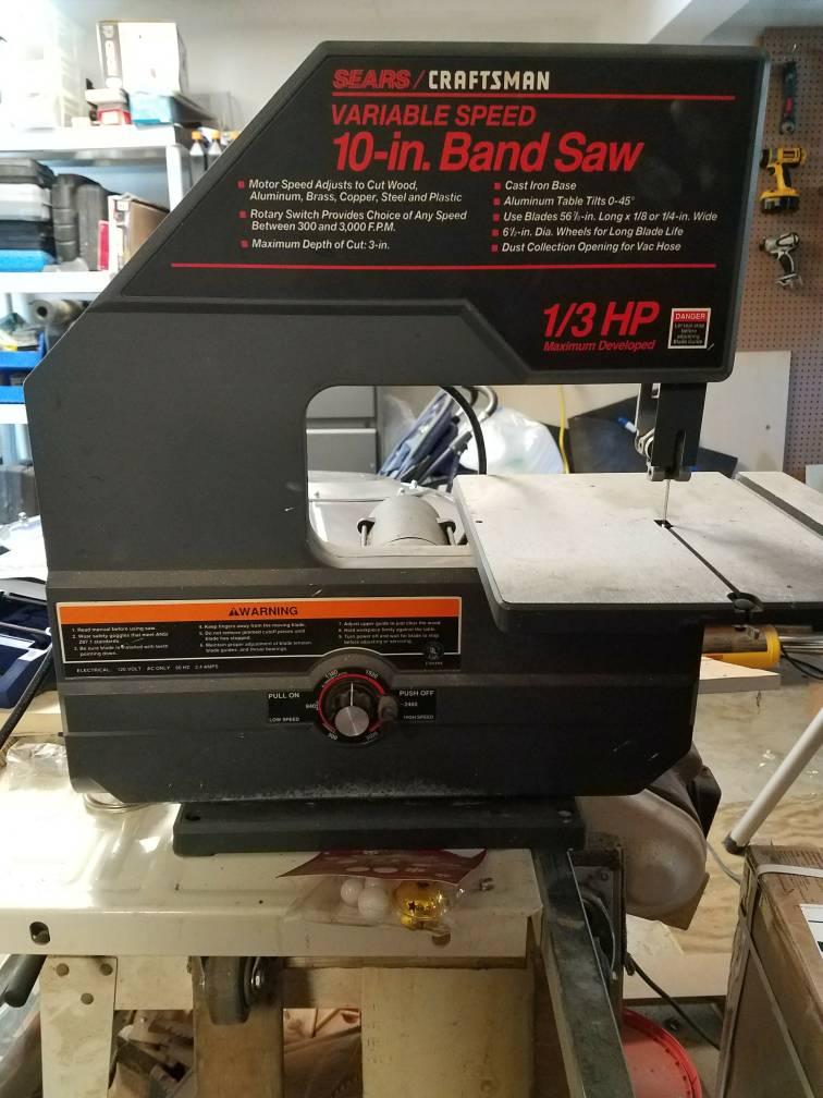 Craftsman 10 Inch Band Saw Blade Size