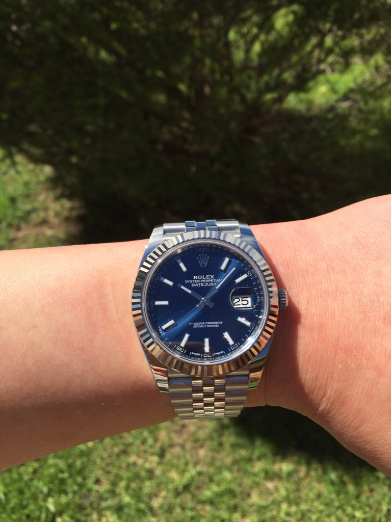 Omega Aqua Terra Vs Rolex Datejust 41 Blue Dials