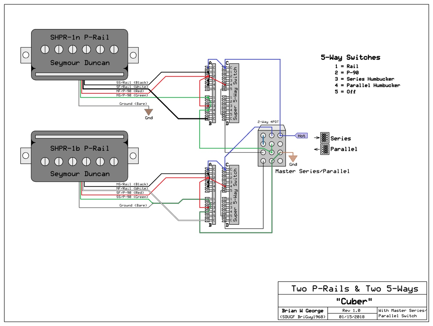 hight resolution of  p rail pickup wiring diagram on p90 pickup adjustment les paul wiring diagram