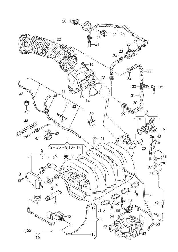 2007 Audi Q7 42 Intake Manifold Removal