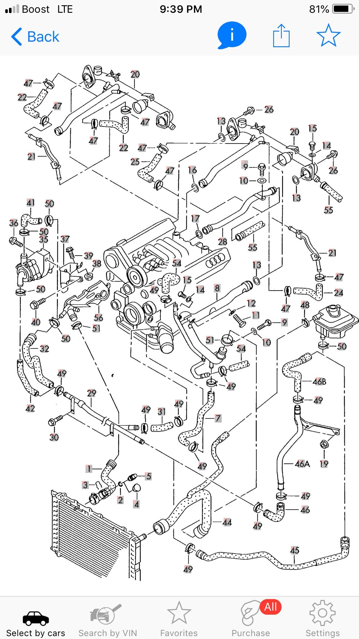 Audi A4 B5 2 8l Coolant Leak Without Car Running