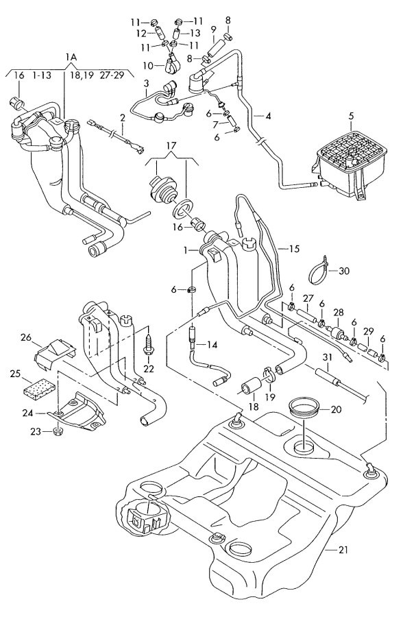 Gas tank schematic...leaking gas after fill up
