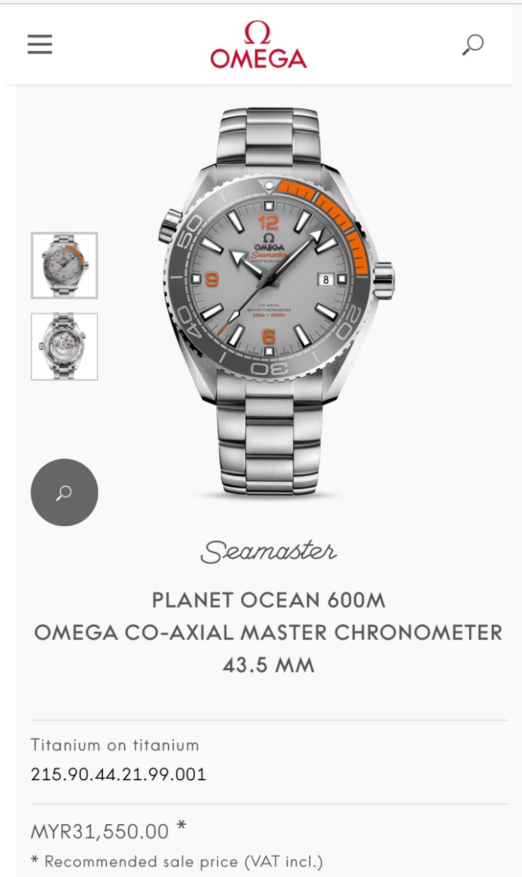 Omega Planet Ocean Master Chronometer 43.5mm Titanium