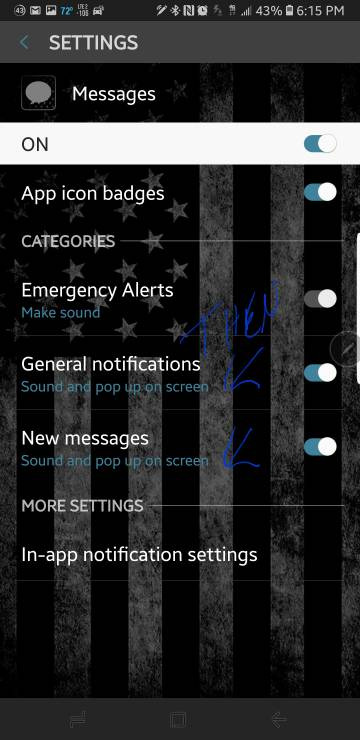 Seperate notification for text messages  Android Forums