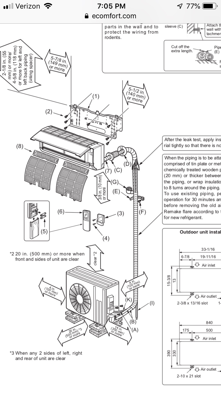 Installing multiple Mini Split Condensers on a single pad