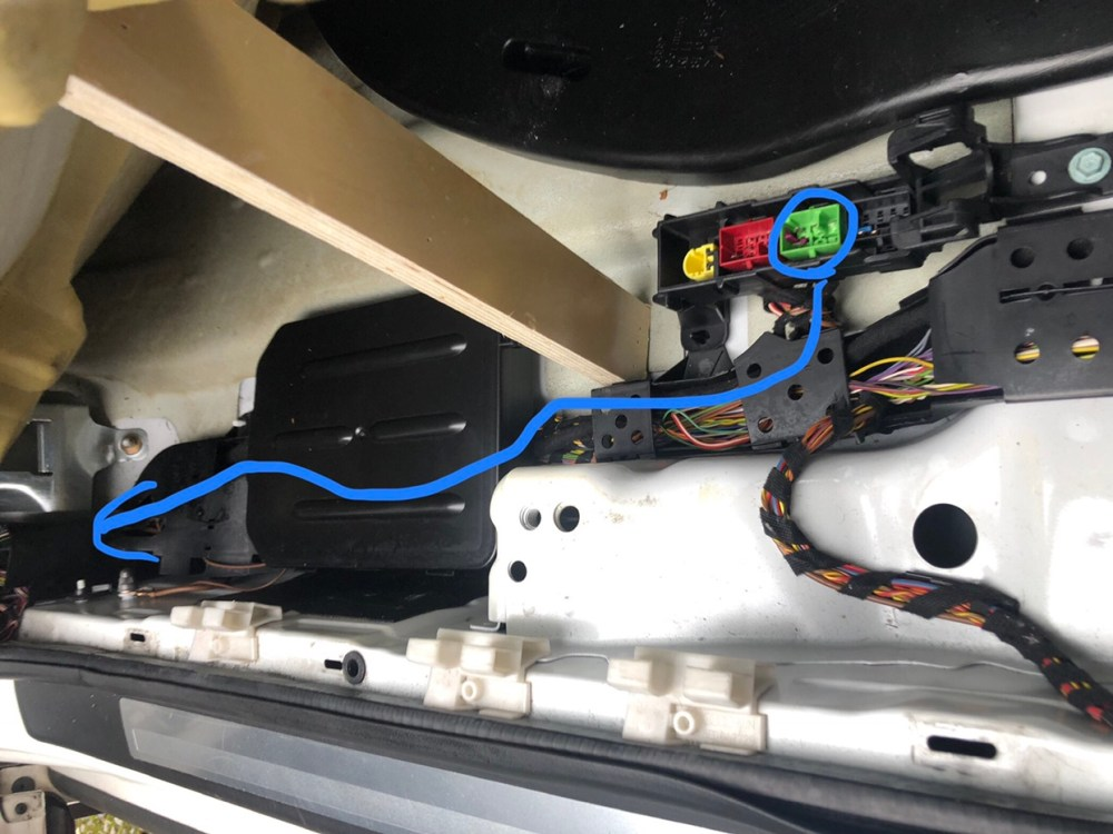 medium resolution of run the wiring along the existing path behind the glove box