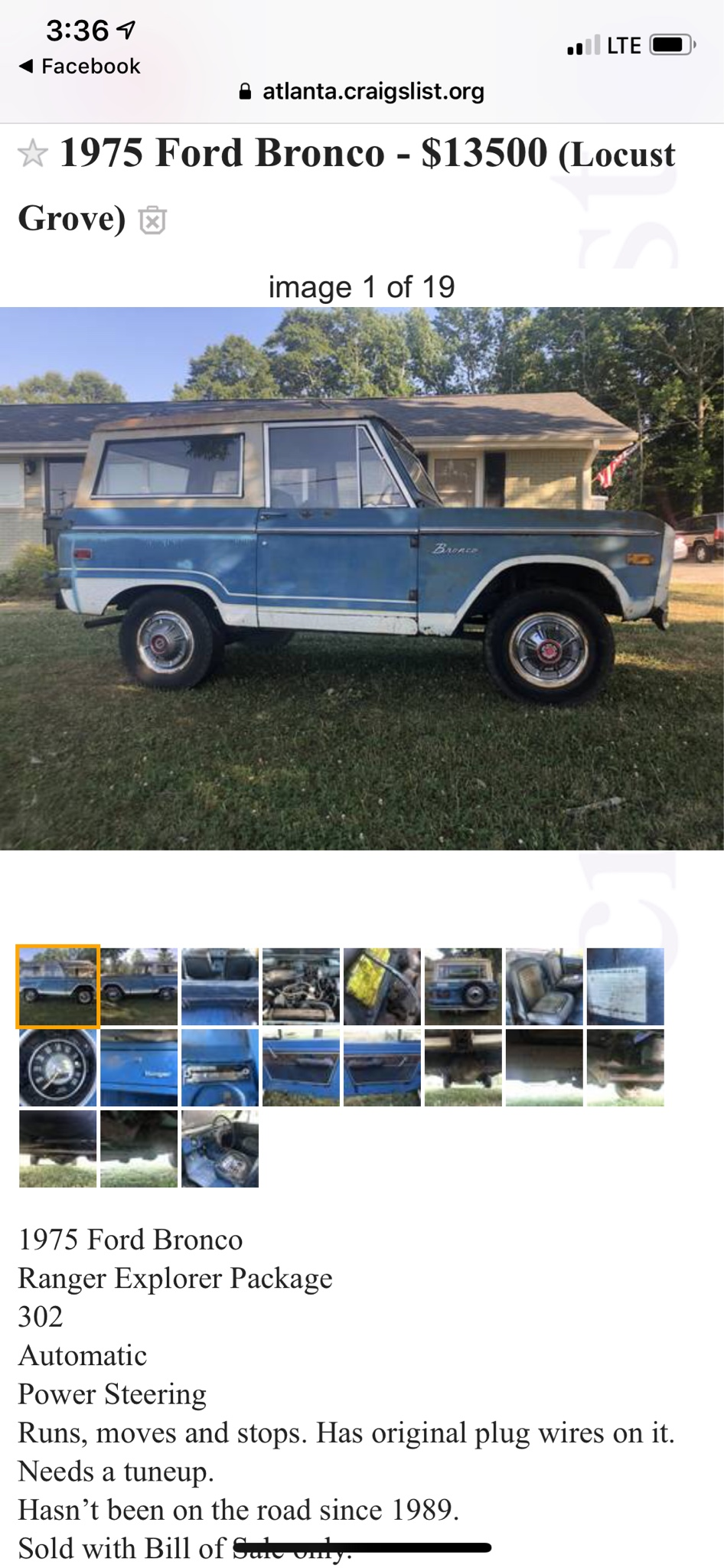 66 77 Bronco Craigslist : bronco, craigslist, Ranger, ClassicBroncos.com, Forums