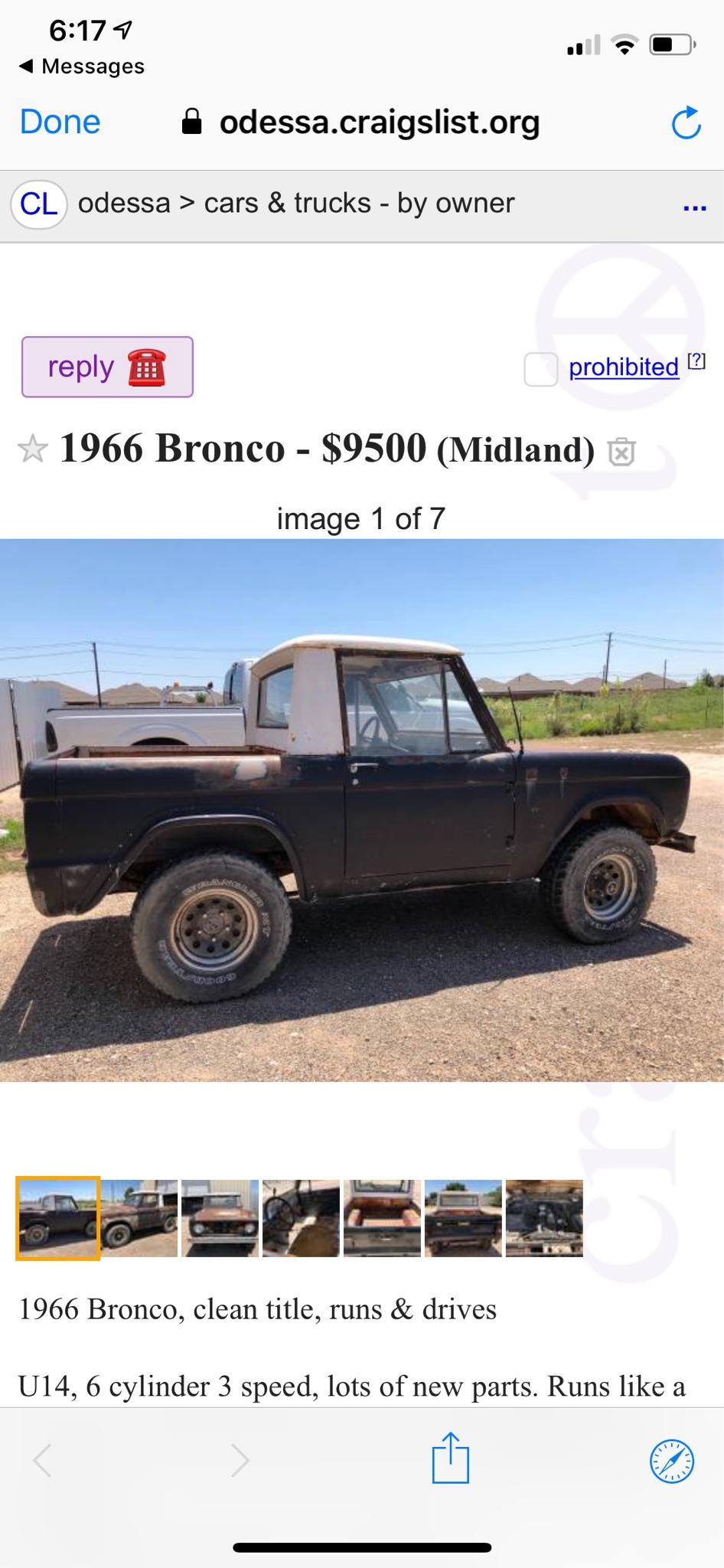 66 77 Bronco Craigslist : bronco, craigslist, ClassicBroncos.com, Forums