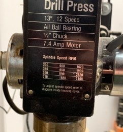 need help replacing the chuck on an old drill press [ 1536 x 2048 Pixel ]
