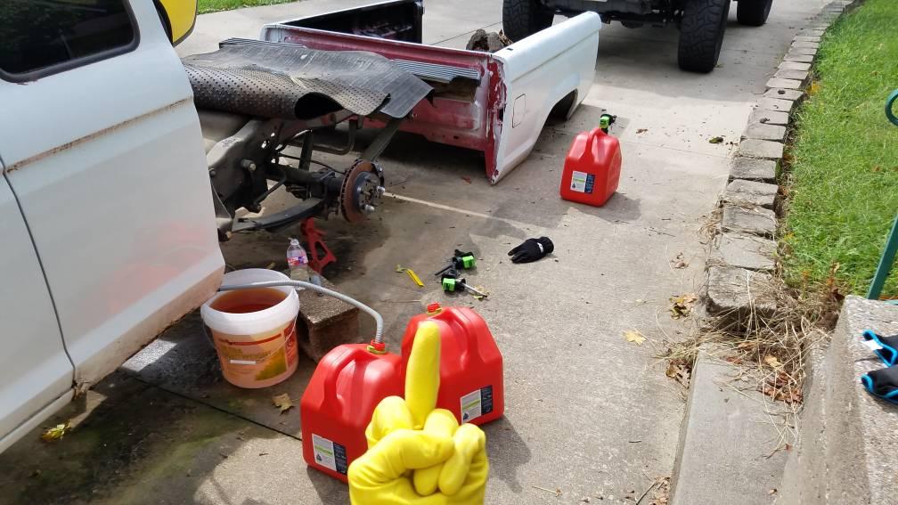 Disposing of bad gasoline