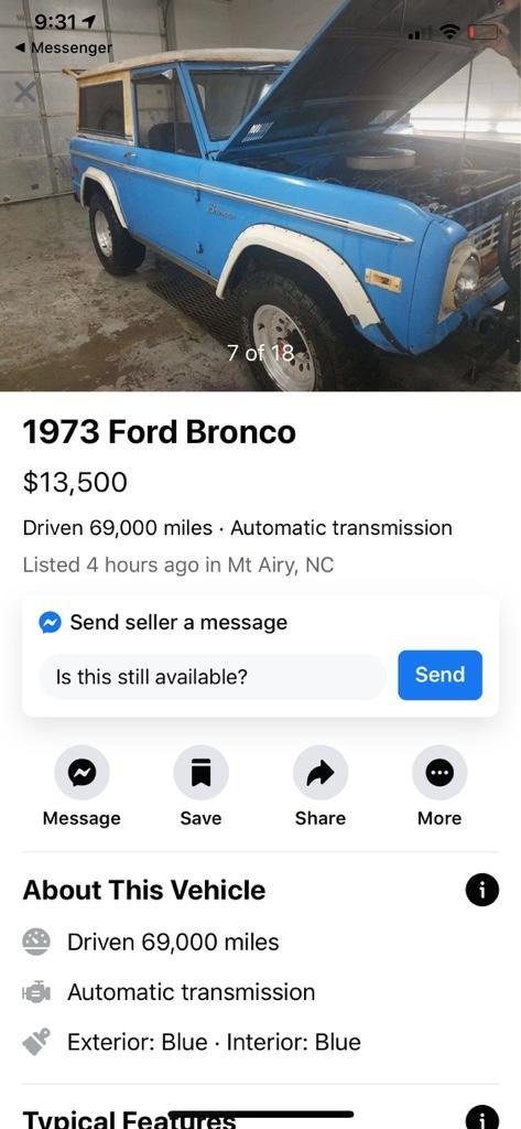 66 77 Bronco Craigslist : bronco, craigslist, Explorer, ClassicBroncos.com, Forums