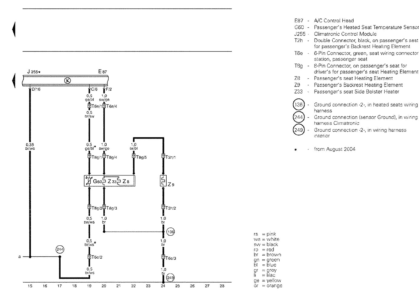 B7 Seat Wiring Diagram