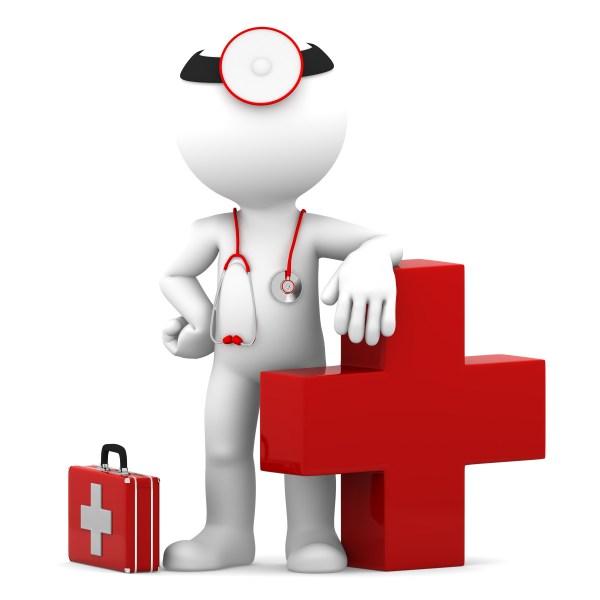 Red Cross Cartoon Doctor