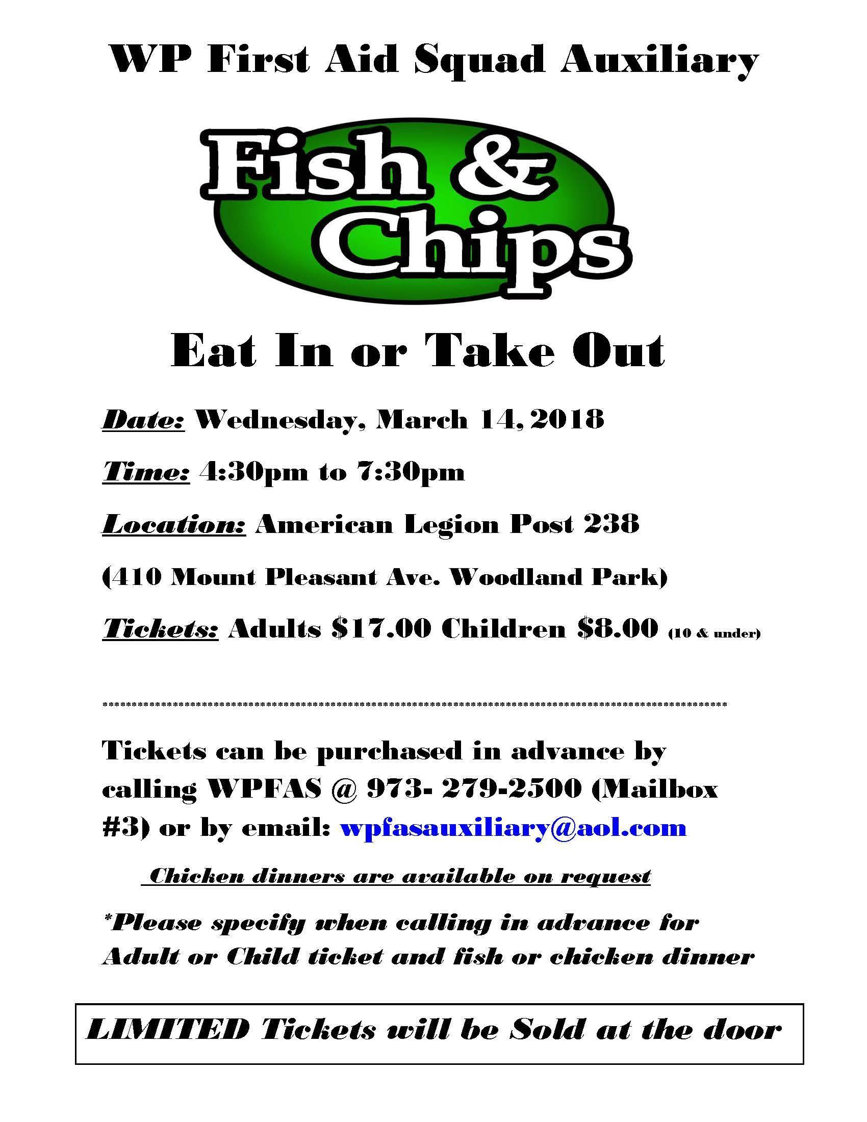 West Paterson First Aid Squad Plans Fundraising Fish