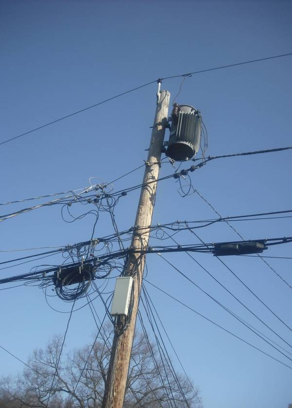 Wireless Small Cell Antenna On Utility Poles