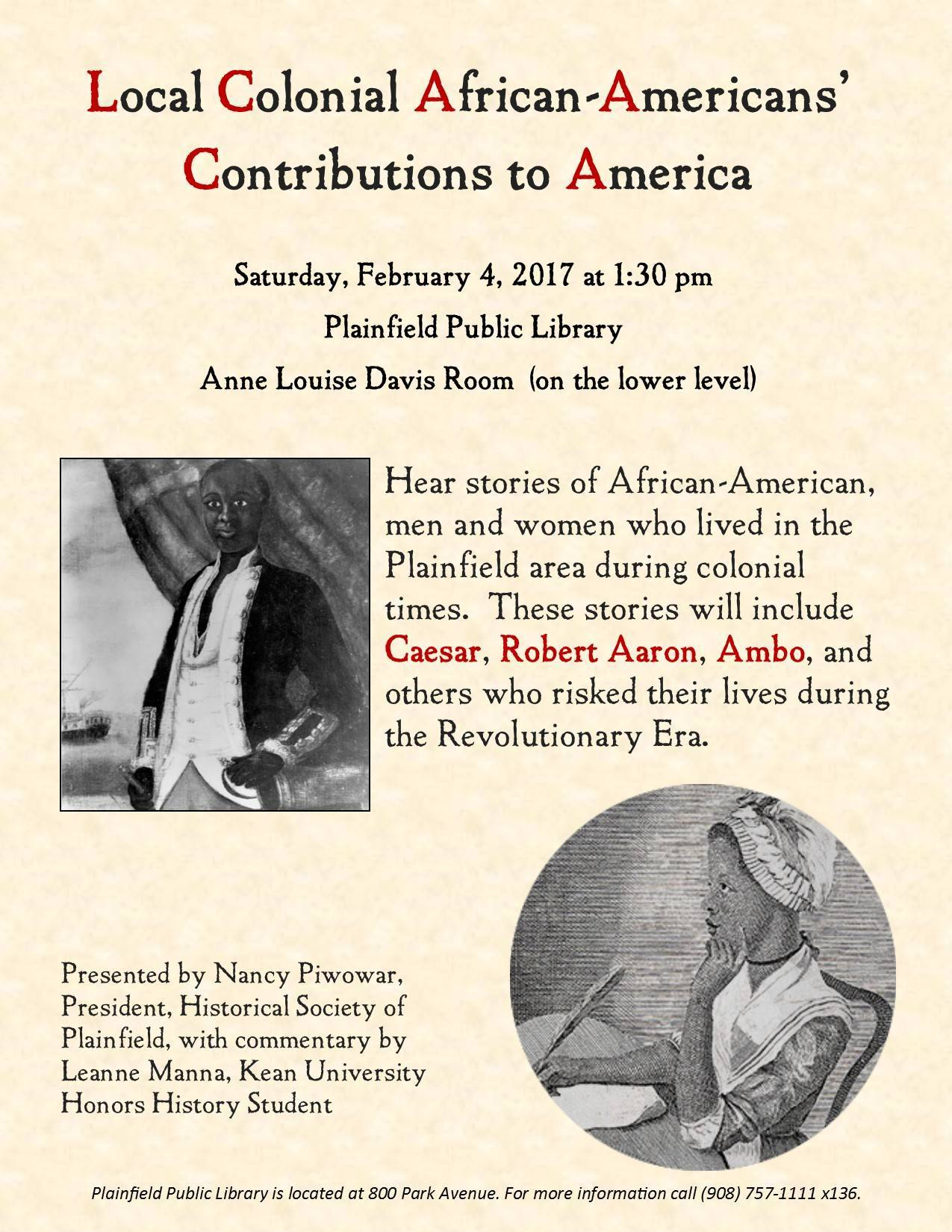 Local Colonial African Americans Contributions To America