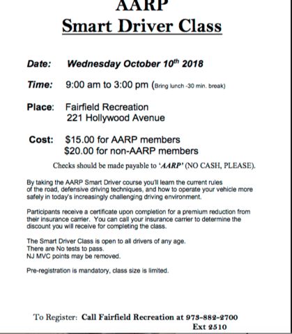 Aarp Smart Driver Class Tapinto