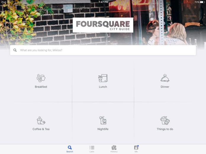 Foursquare uses design constraints to limit available interactions in their interaction design