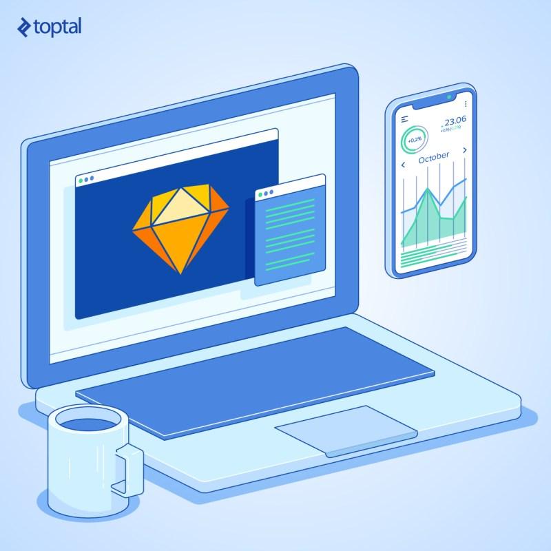 Ilustración de portada: herramientas de diseño de UI de iOS