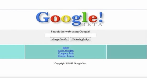 Sitio web de Google de 1998
