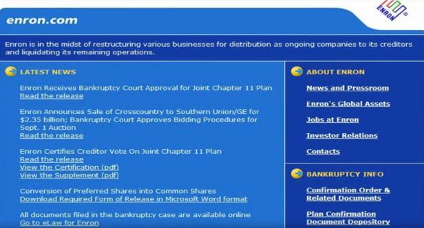Sitio web de Enron del 2004