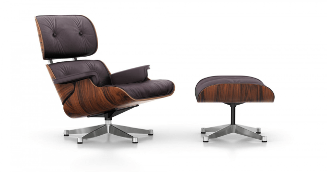 Herman Miller Eames Rosewood 670/671 Lounge Chair And Ottoman minimalist design