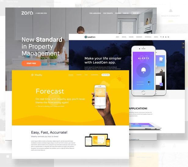 Landing pages con diseño minimalista
