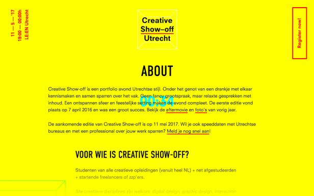 Ejemplo de diseño de sitio web brutalista