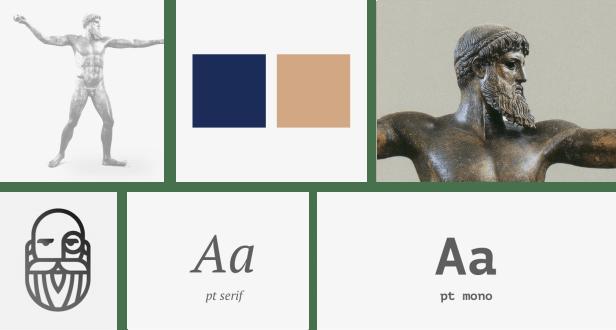 Moodboard de la marca comenzando el proceso de diseño del logo