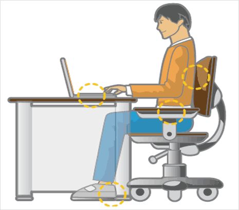 ergonomic chair keyboard position hanging makro 9 tips to keep you safe and comfortable at the typing blog correct posture